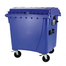 "1100-литров пластмасов контейнер тип ""бобър"" (син)"