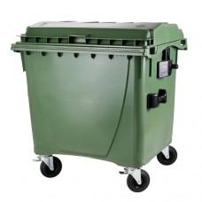 "1100-литров пластмасов контейнер тип ""бобър"" (зелен)"