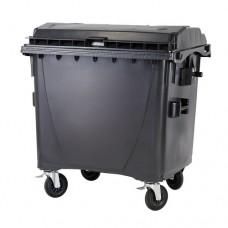 """1100-литров пластмасов контейнер тип """"бобър"""" (черен)"""