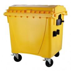 """1100-литров пластмасов контейнер тип """"бобър"""" (жълт)"""