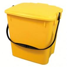 10-литрово пластмасово жълто кошче Urba с жълт капак