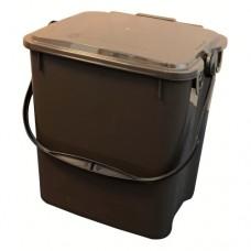 10-литрово пластмасово кафяво кошче Urba с кафяв капак
