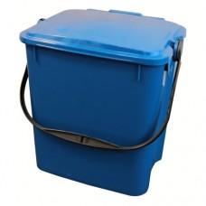 10-литрово пластмасово синьо кошче Urba със син капак