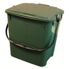 10-литрово пластмасово зелено кошче Urba със зелен капак