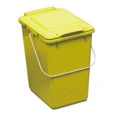10-литрово пластмасово жълто кошче Клико с дръжка