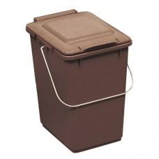 10-литрово пластмасово кафяво кошче Клико с дръжка