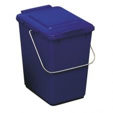 10-литрово пластмасово синьо кошче Клико с дръжка