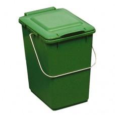 10-литрово пластмасово зелено кошче Клико с дръжка