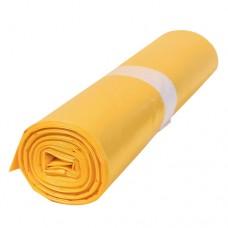 Кашон с 250 полиетиленови чувала (120 литра, жълти, дебелина 50 микрона)