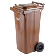 120-литров пластмасов кафяв контейнер за биологични отпадъци