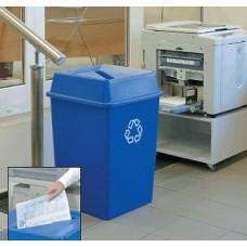 132-литров пластмасов син контейнер за отпадъци