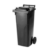 140-литров пластмасов черен контейнер