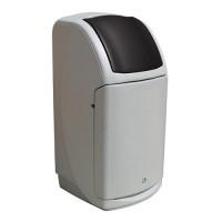 140-литров пластмасов сив контейнер Nexus с черен капак