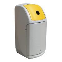 140-литров пластмасов сив контейнер Nexus с жълт капак