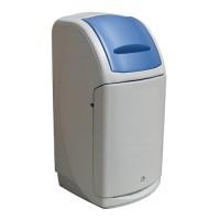 140-литров пластмасов сив контейнер Nexus със син капак