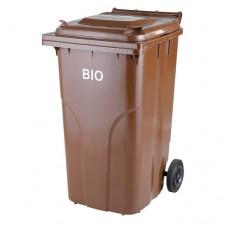 240-литров пластмасов кафяв контейнер за биологични отпадъци