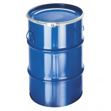 60-литров метален син варел с отваряем капак