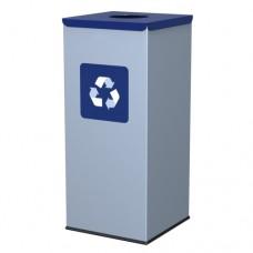 60-литров метален контейнер със син капак с отвор