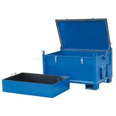 280-литров метален универсален контейнер син