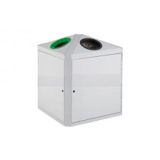 2x75-литров контейнер с две секции (зелена и черна) за разделно събиране на отпадъци