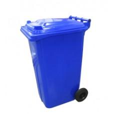 120-литров пластмасов контейнер (син)