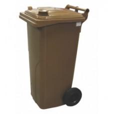 120-литров пластмасов контейнер (кафяв)