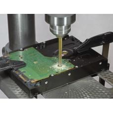 Унищожаване на HDD дискове чрез пробиване