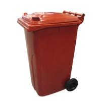 120-литров пластмасов контейнер (червен)