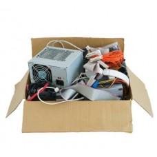 Рециклиране на кашон с дребни е-уреди и части