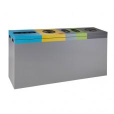 Пластмасов контейнер с 5 секции за събиране на отпадъци (3x110+2x54 литра)